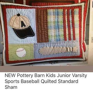 Pottery Barn Kids Junior Varsity Baseball Sham
